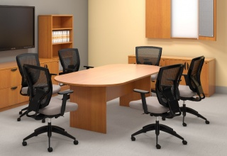 Used Custom 18 39 White Conference Table