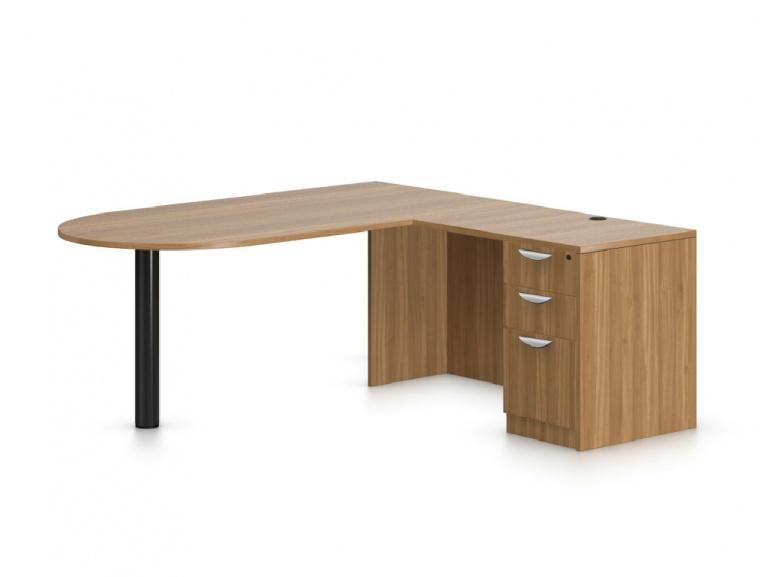 L Shaped Desk W P Top